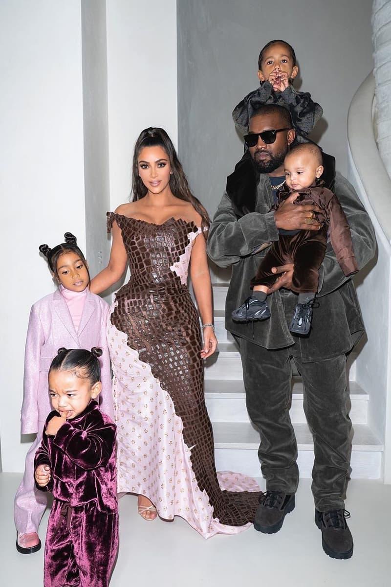 Kim Kardashian Kanye West Christas Eve Family Photo Children North Saint Chicago Psalm 2019 Holidays