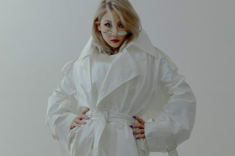 CL Juun.J Fitting White Jacket Tiny Sunglasses Winter Olympics