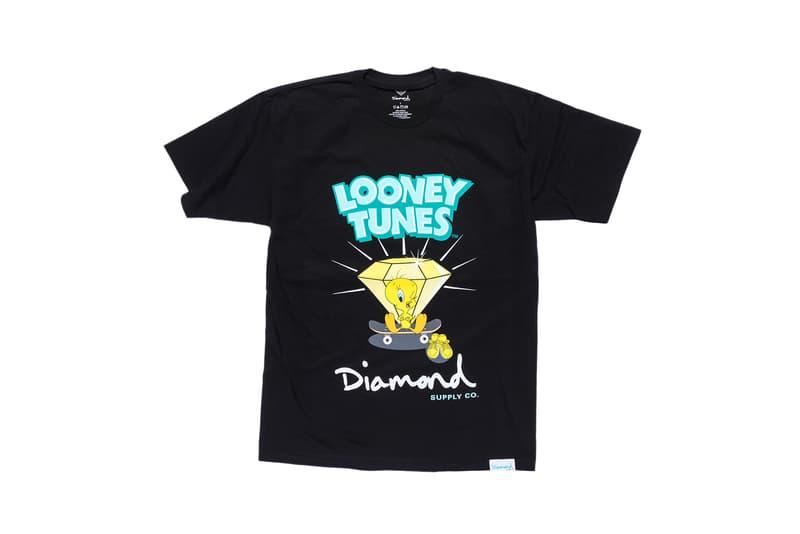 Looney Tunes x Diamond Supply Co. Collection Tweety Bird T-Shirt Diamond Skateboard Black