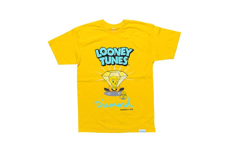 Looney Tunes x Diamond Supply Co. Collection Tweety Bird T-Shirt Diamond Skateboard Orange