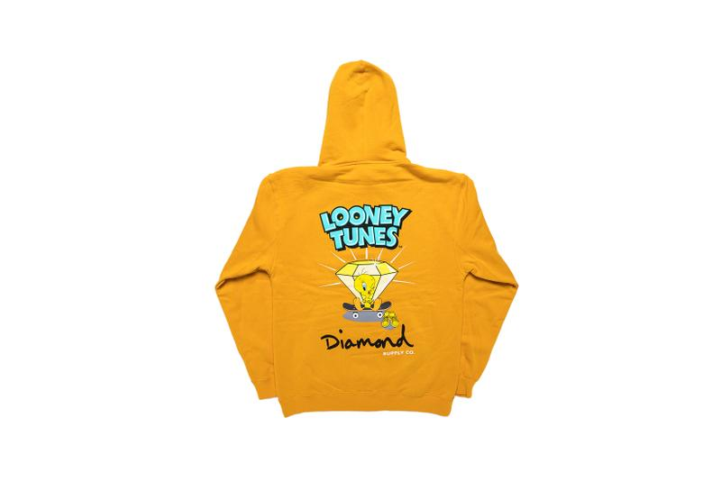 Looney Tunes x Diamond Supply Co. Collection Tweety Bird Hoodie Diamond Orange