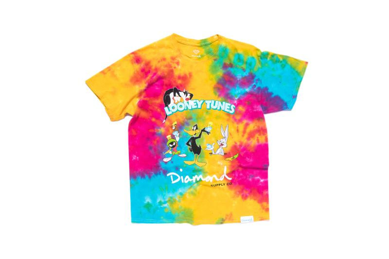 Looney Tunes x Diamond Supply Co. Collection Sylvester Bugs Bunny Daffy Duck Marvin the Martian T-Shirt Tie Dye Rainbow
