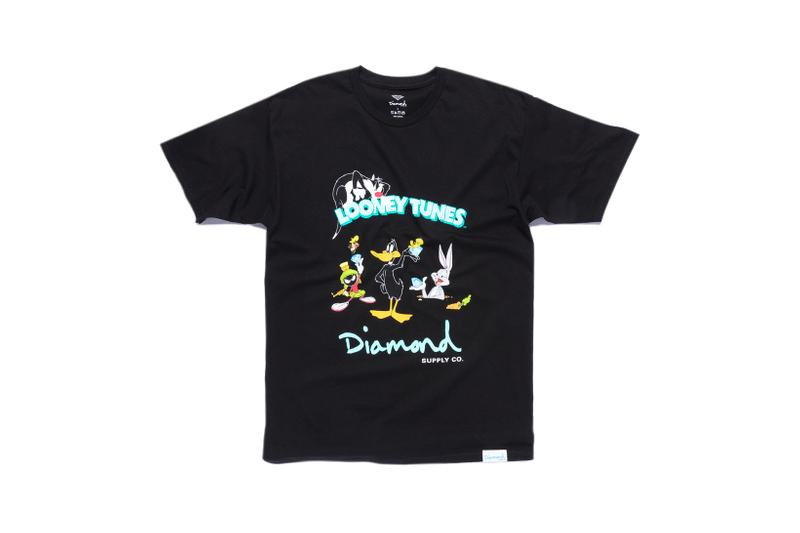 Looney Tunes x Diamond Supply Co. Collection Sylvester Bugs Bunny Daffy Duck Marvin the Martian T-Shirt Black