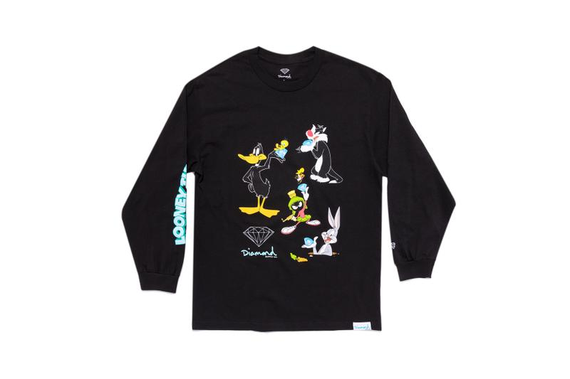 Looney Tunes x Diamond Supply Co. Collection Sylvester Bugs Bunny Daffy Duck Marvin the Martian Long Sleeve Black