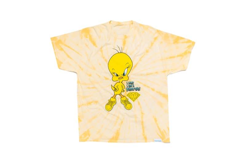 Looney Tunes x Diamond Supply Co. Collection Tweety Bird T-Shirt Puddy-Tat Orange Tie Dye