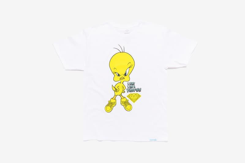 Looney Tunes x Diamond Supply Co. Collection Tweety Bird T-Shirt Puddy-Tat White