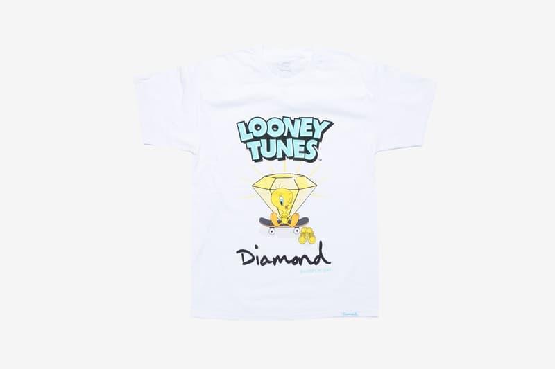 Looney Tunes x Diamond Supply Co. Collection Tweety Bird T-Shirt Diamond Skateboard White