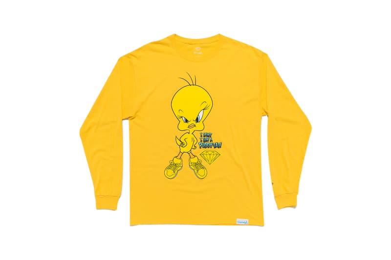 Looney Tunes x Diamond Supply Co. Collection Tweety Bird Long Sleeve Puddy-Tat Orange