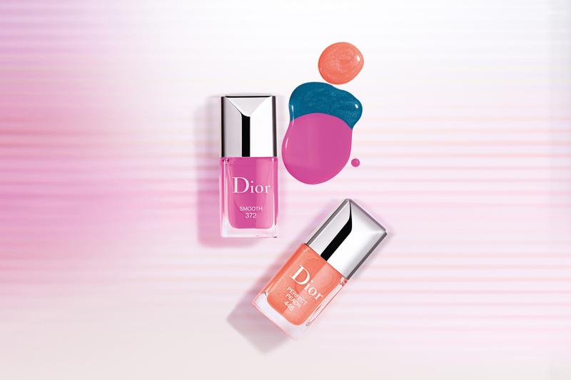 "Dior Beauty ""Glow Vibes"" Spring Summer 2020 Makeup Collection Vernis Nail Polish Smooth Perfect Peach"