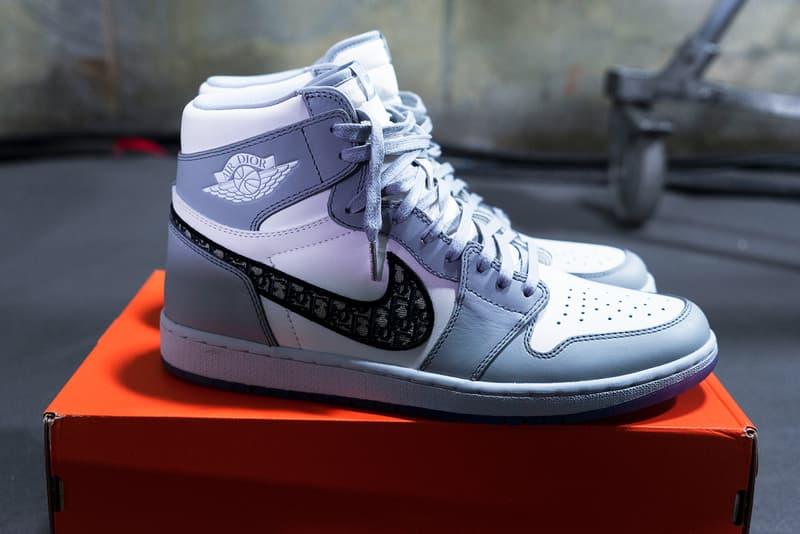 dior nike collaboration air jordan 1 high og sneaker pre fall 2020 kim jones shoes sneakerhead footwear