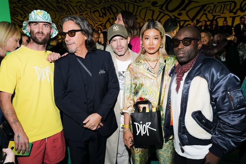 Dior Pre-Fall 2020 Miami Show Front Row Guests Kim Kardashian Kourtney Kardashian Yoon Ahn Kim Jones Travis Scott Shawn Wotherspoon