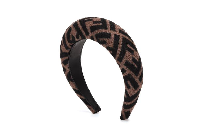 Fendi Monogram Wool and Cashmere Headband