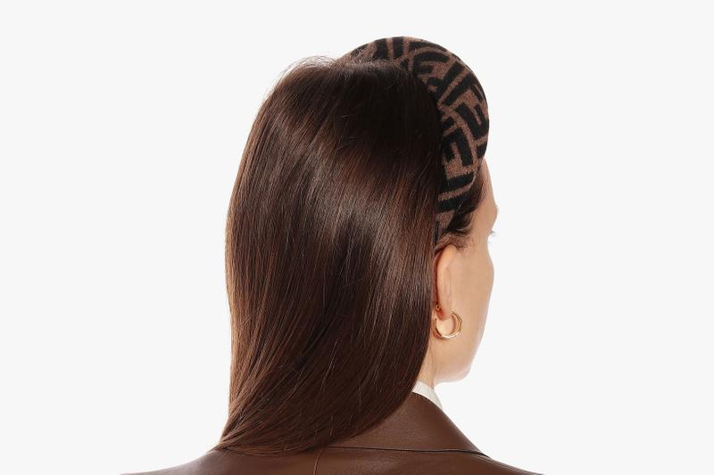 Fendi Monogram Wool and Cashmere Headband