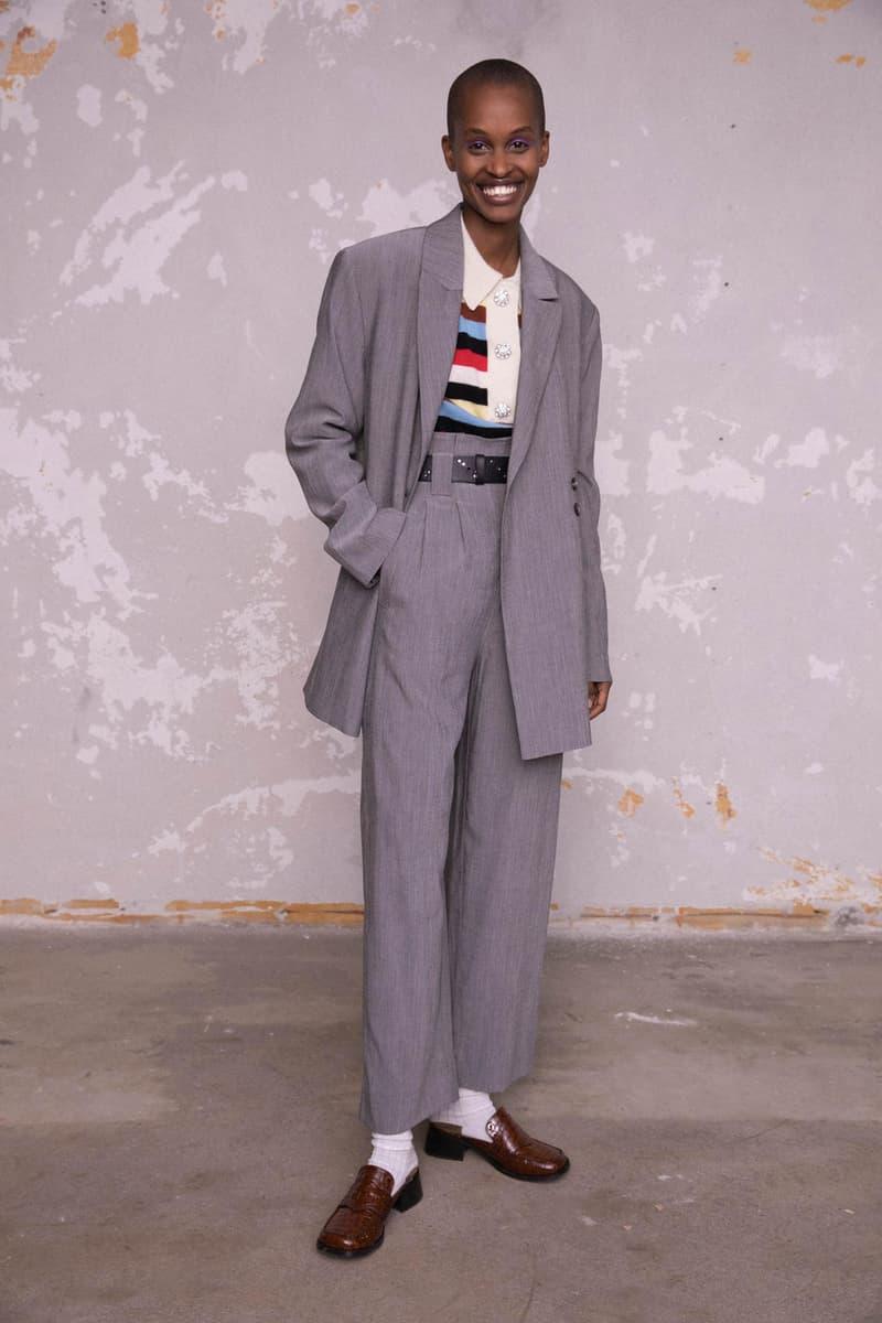 GANNI Pre-Fall 2020 Collection Lookbook Suit Grey