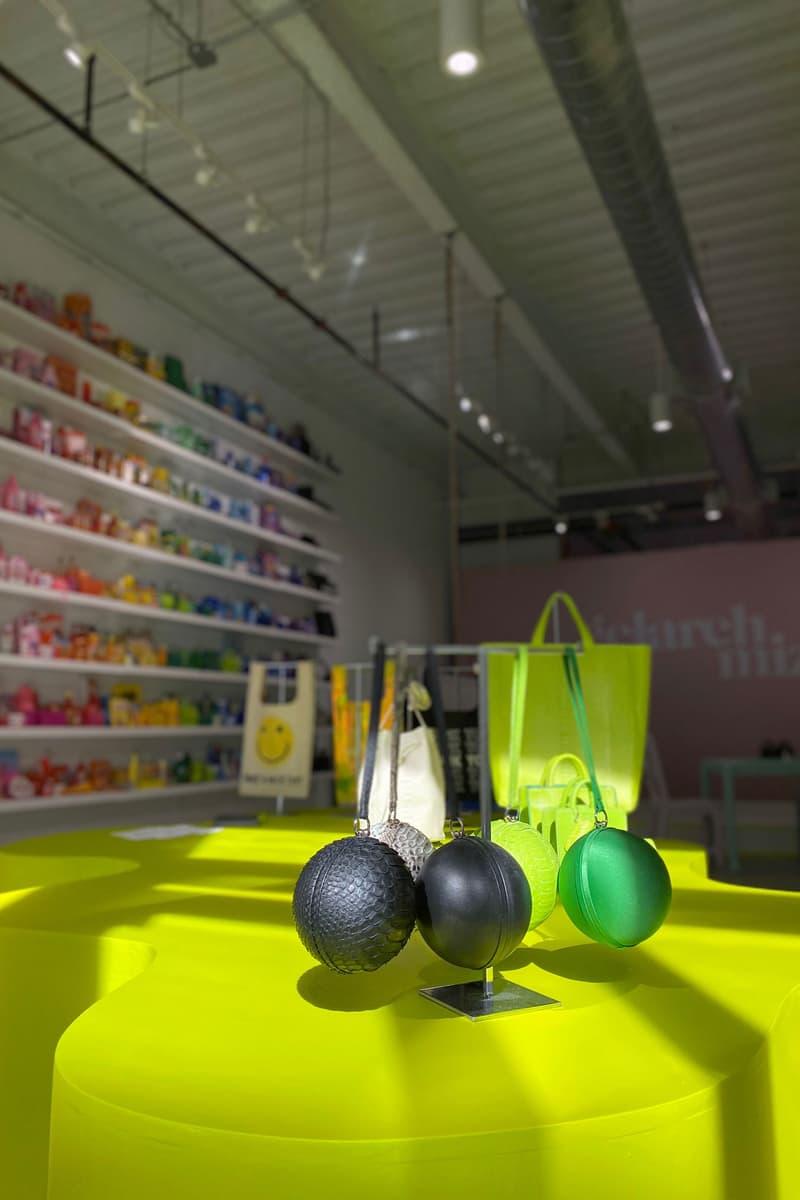gelareh mizrahi art basel miami bodega popup rainbow micro mini bags custom design