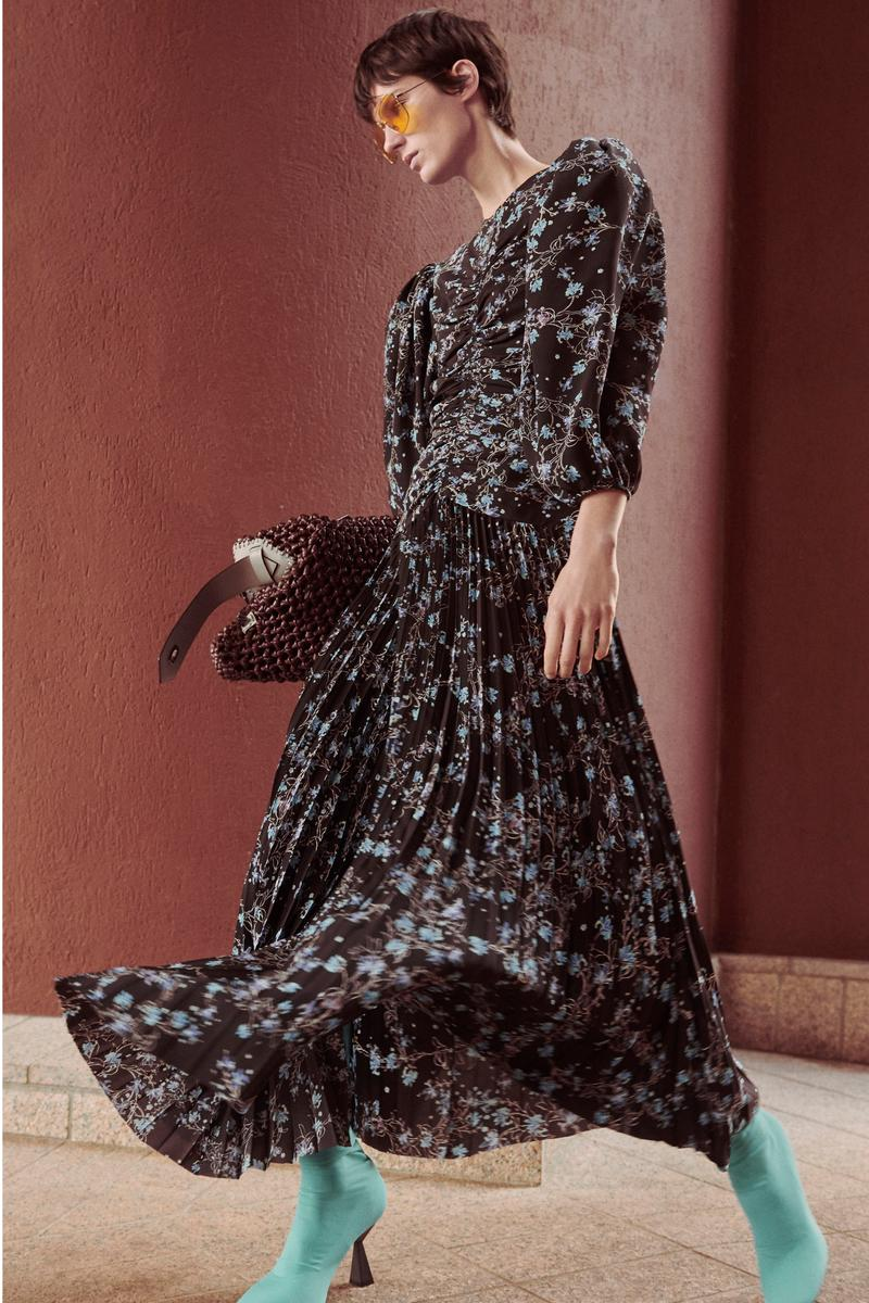 Givenchy Pre-Fall 2020 Collection Lookbook Floral Iris Pleated Gown
