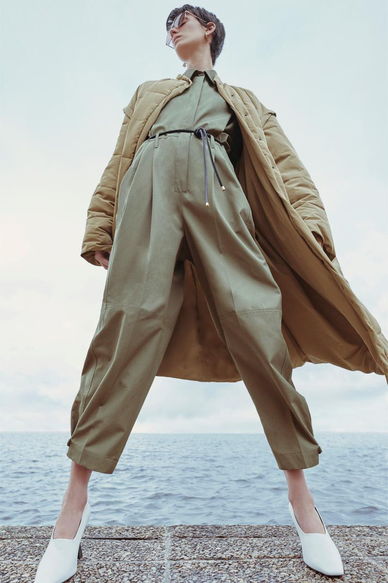 Givenchy Pre-Fall 2020 Collection Lookbook Coat Beige Jumpsuit Olive