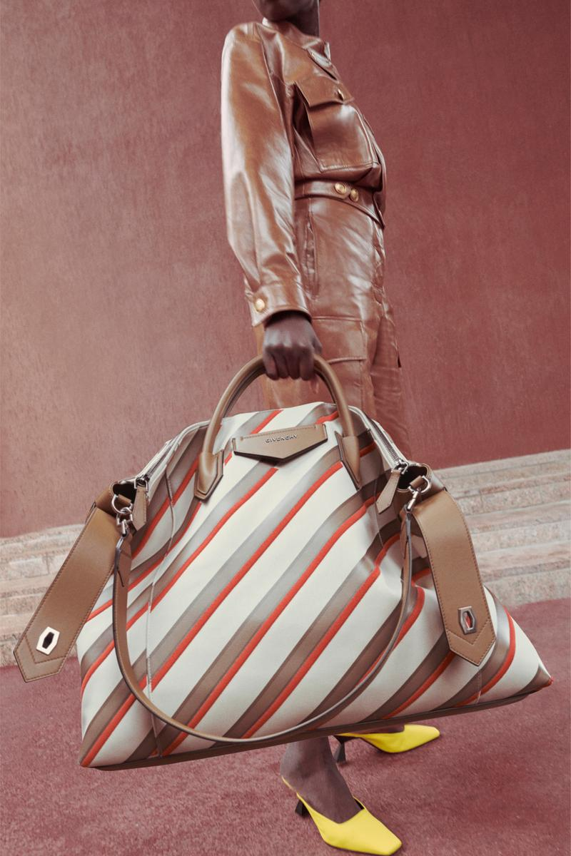 Givenchy Pre-Fall 2020 Collection Lookbook Antigona Soft Stripe Beige Red