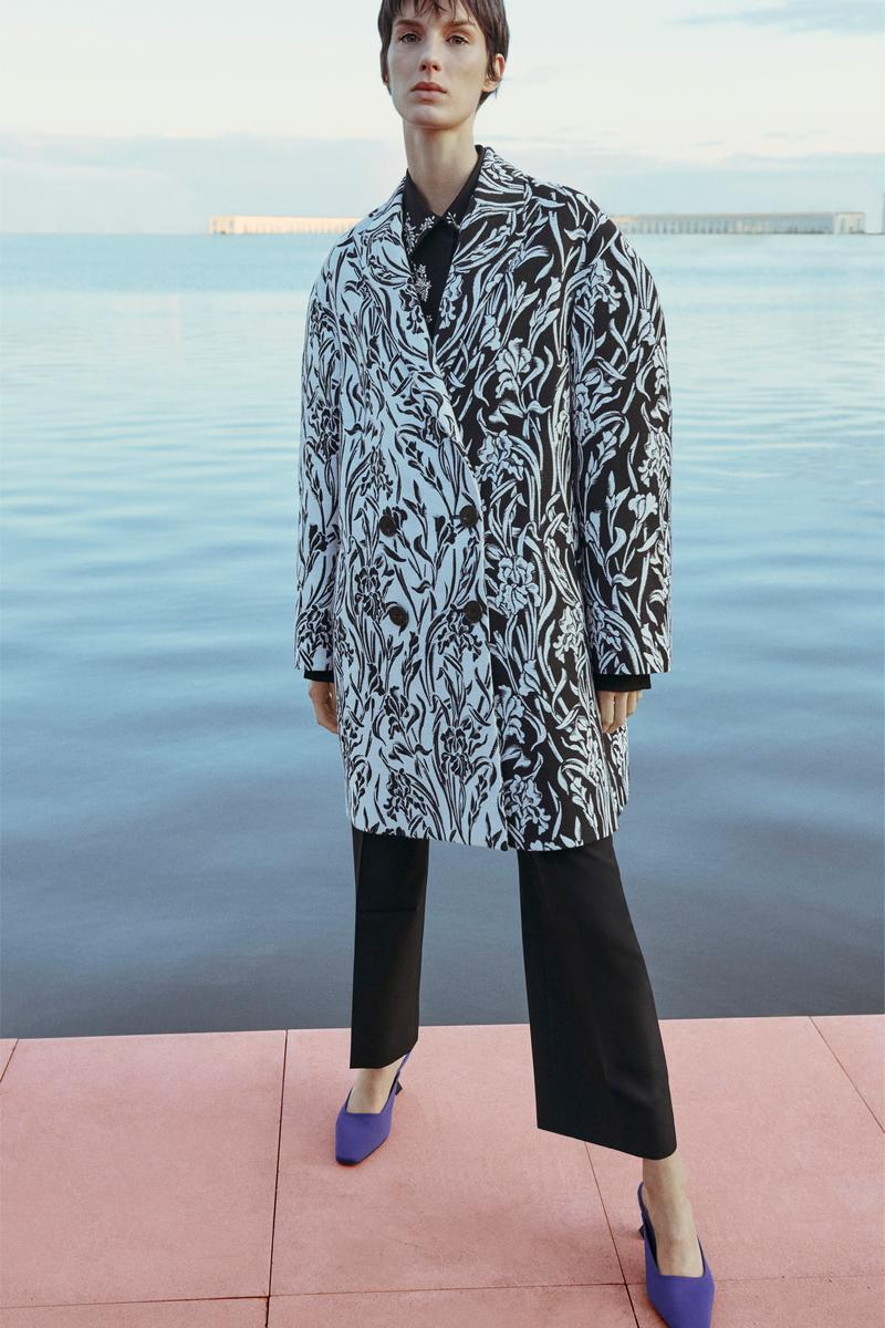 Givenchy Pre-Fall 2020 Collection Lookbook Cocoon Coat Iris Floral Print