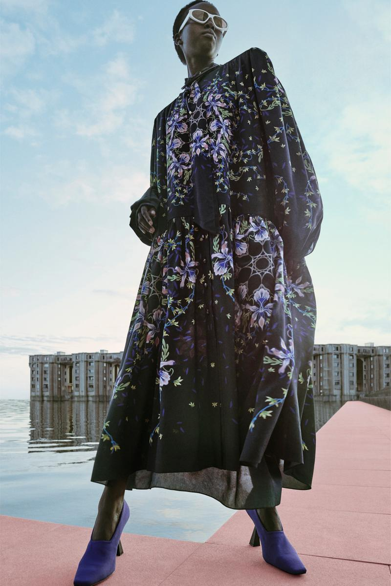Givenchy Pre-Fall 2020 Collection Lookbook Floral Iris Gown