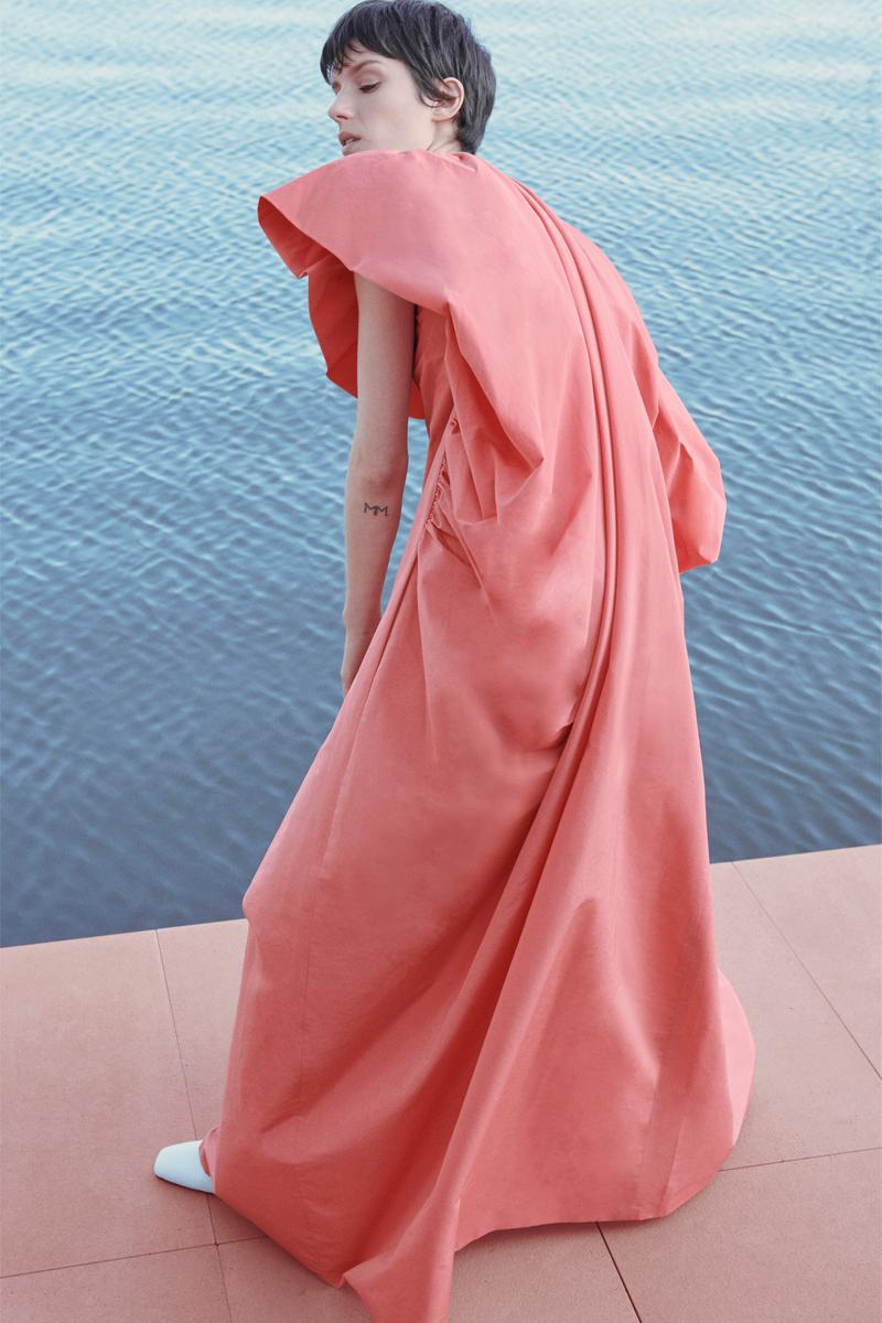 Givenchy Pre-Fall 2020 Collection Lookbook Draped Gown Peach