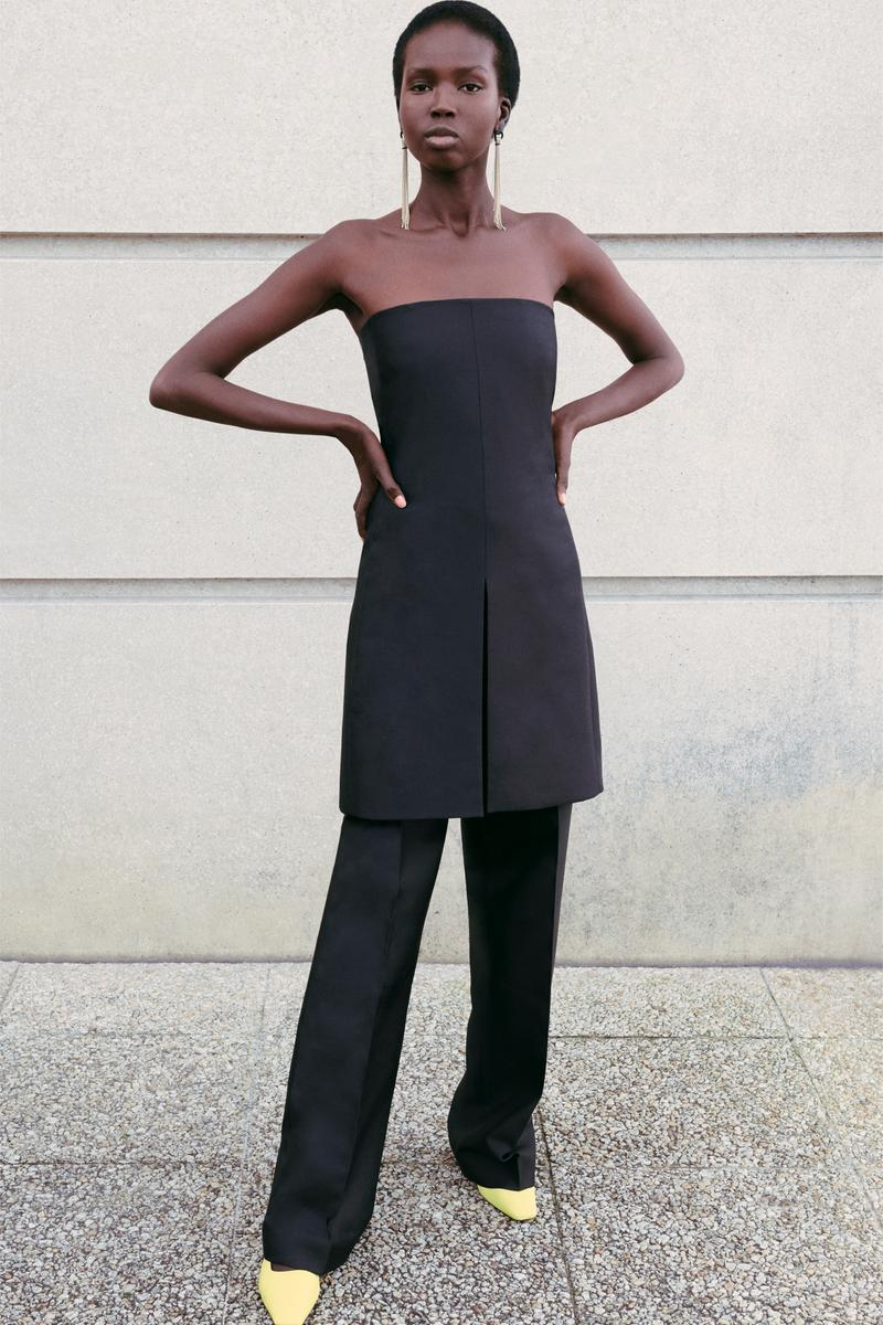 Givenchy Pre-Fall 2020 Collection Lookbook Column Dress Trousers Black