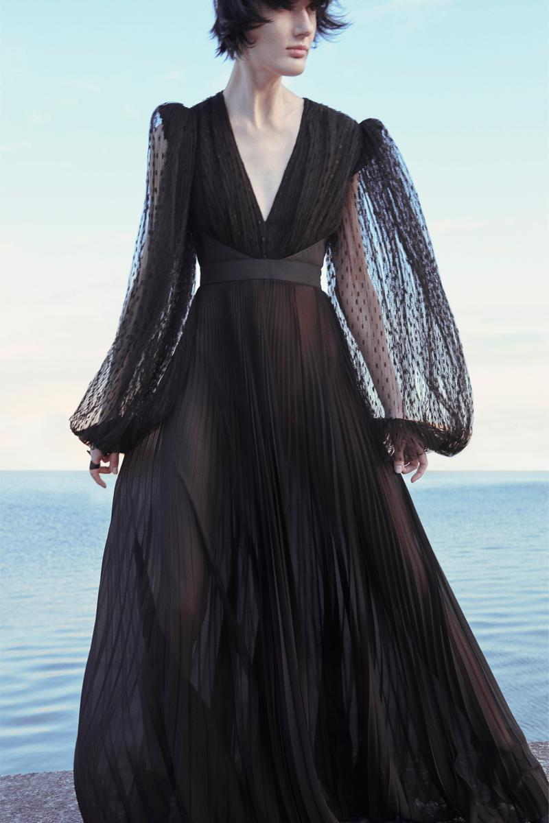 Givenchy Pre-Fall 2020 Collection Lookbook Lace Gown Black