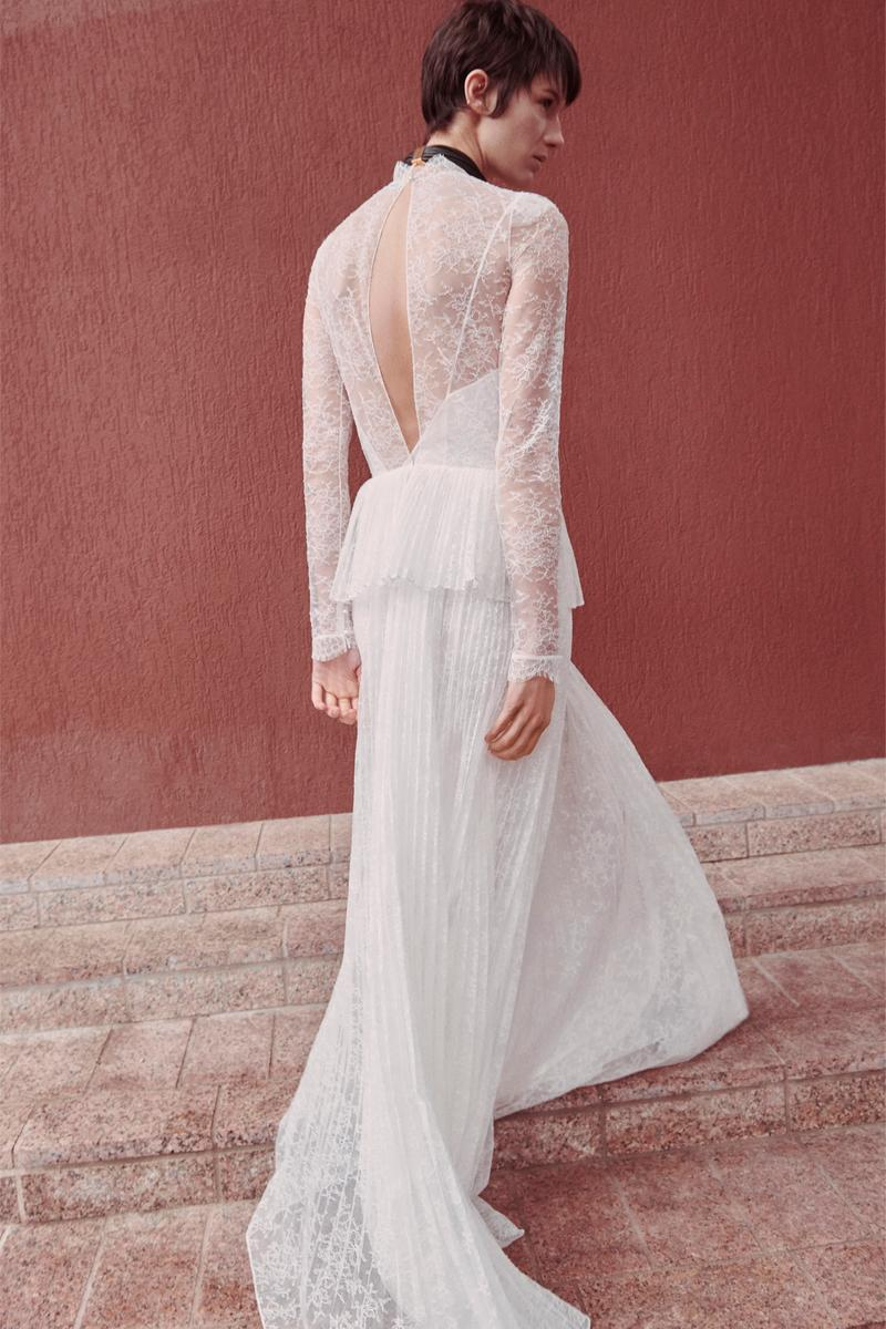 Givenchy Pre-Fall 2020 Collection Lookbook Lace Gown White