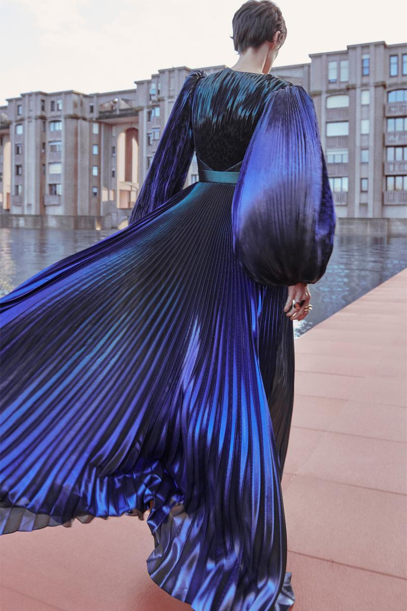 Givenchy Pre-Fall 2020 Collection Lookbook Pleated Gown Purple