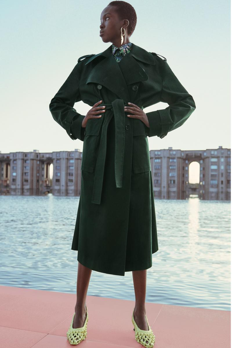 Givenchy Pre-Fall 2020 Collection Lookbook Trench Coat Green