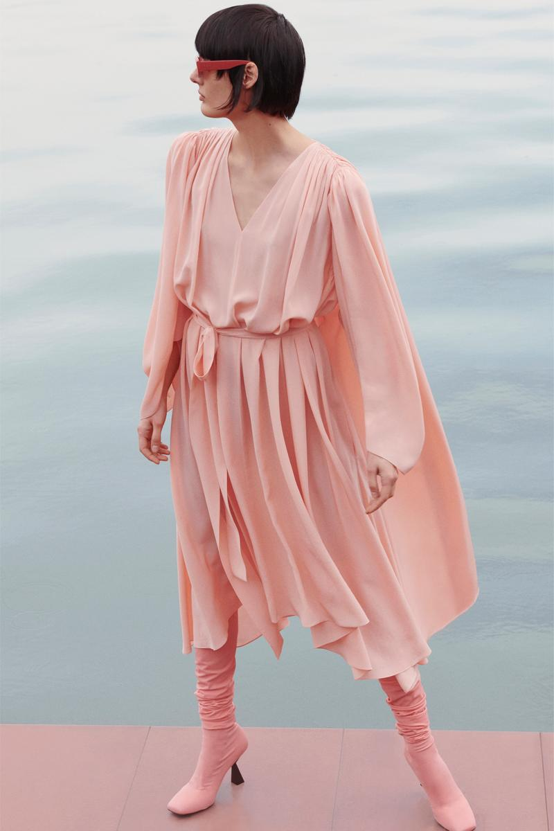 Givenchy Pre-Fall 2020 Collection Lookbook Draped Dress Peach