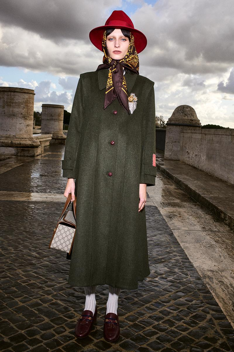 Gucci Pre-Fall 2020 Collection Lookbook Olive Coat