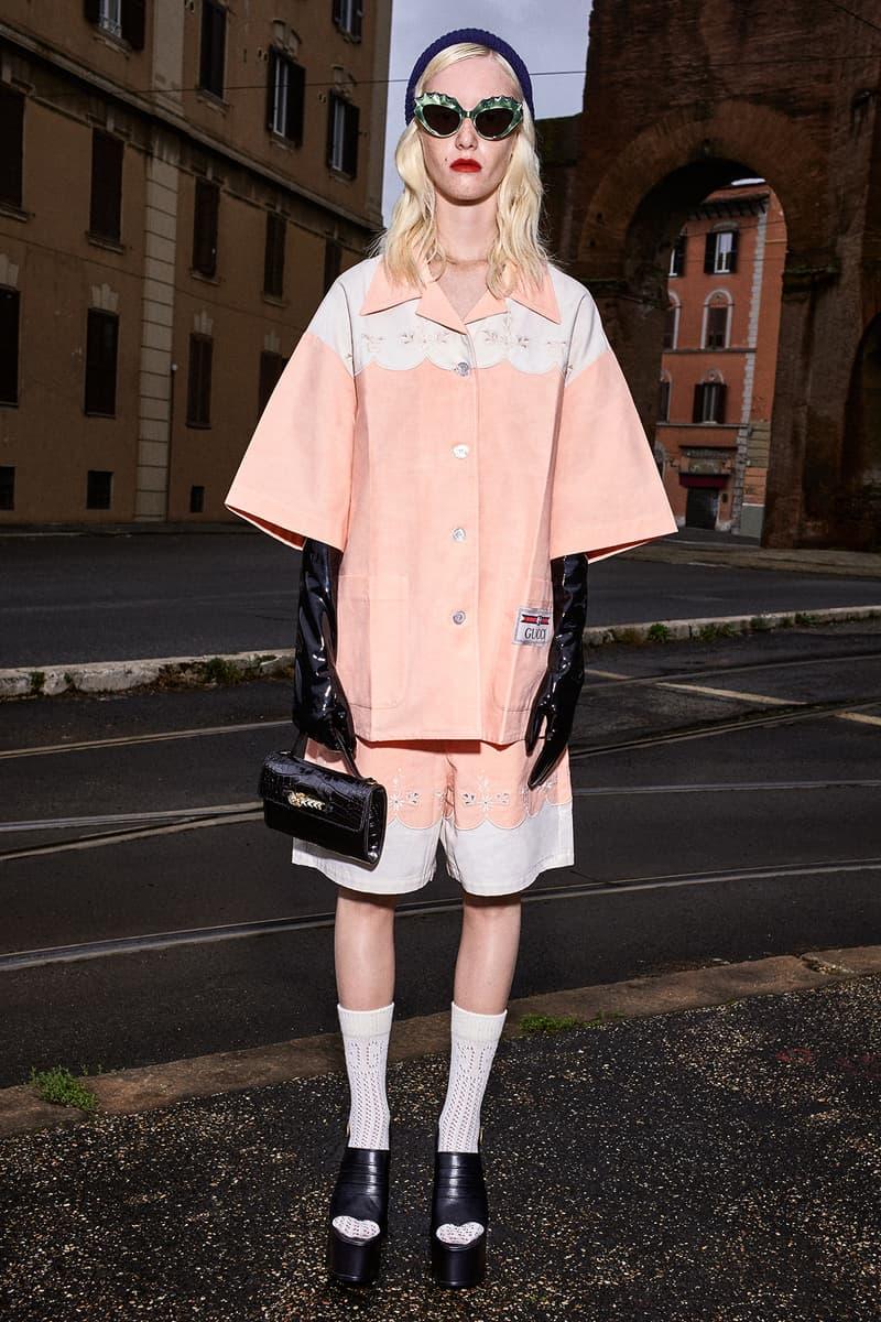 Gucci Pre-Fall 2020 Collection Lookbook Pajama Shirt Shorts