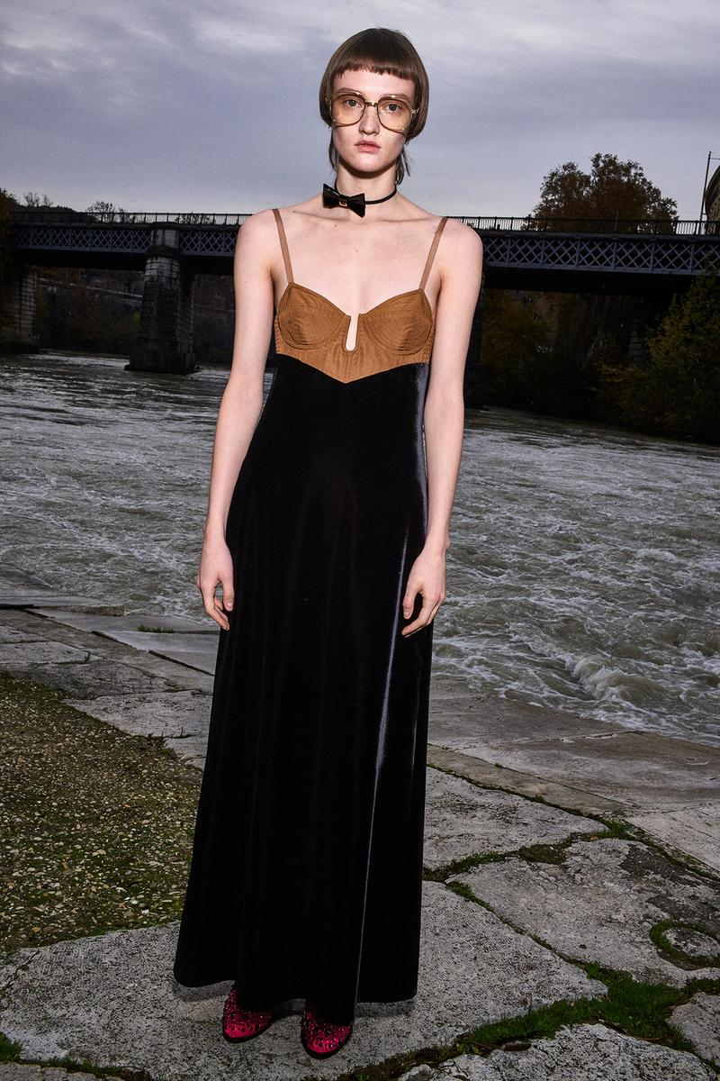 Gucci Pre-Fall 2020 Collection Lookbook Slip Dress Black Velvet