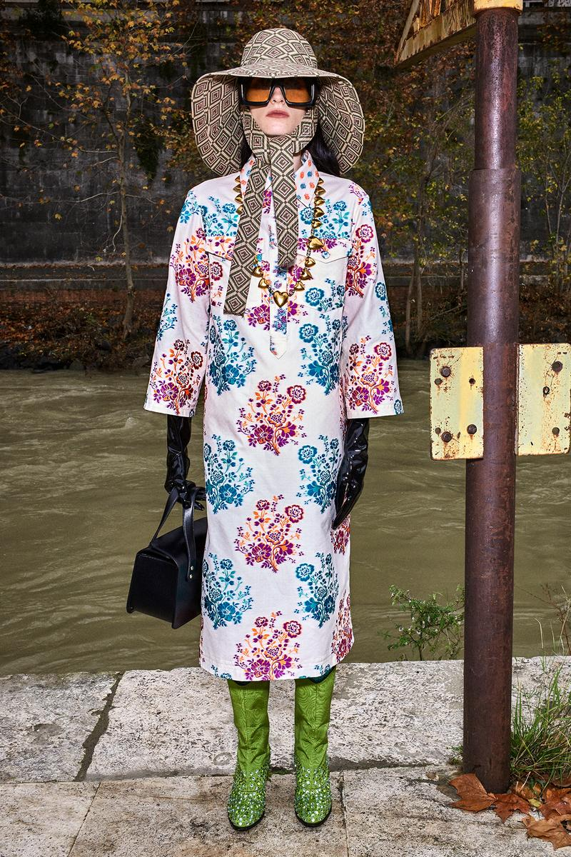 Gucci Pre-Fall 2020 Collection Lookbook Floral Dress