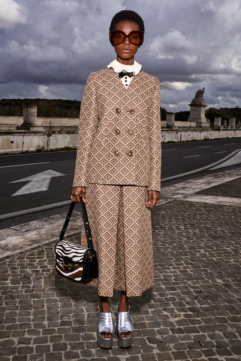 Gucci Pre-Fall 2020 Collection Lookbook Suit GG Logo Brown