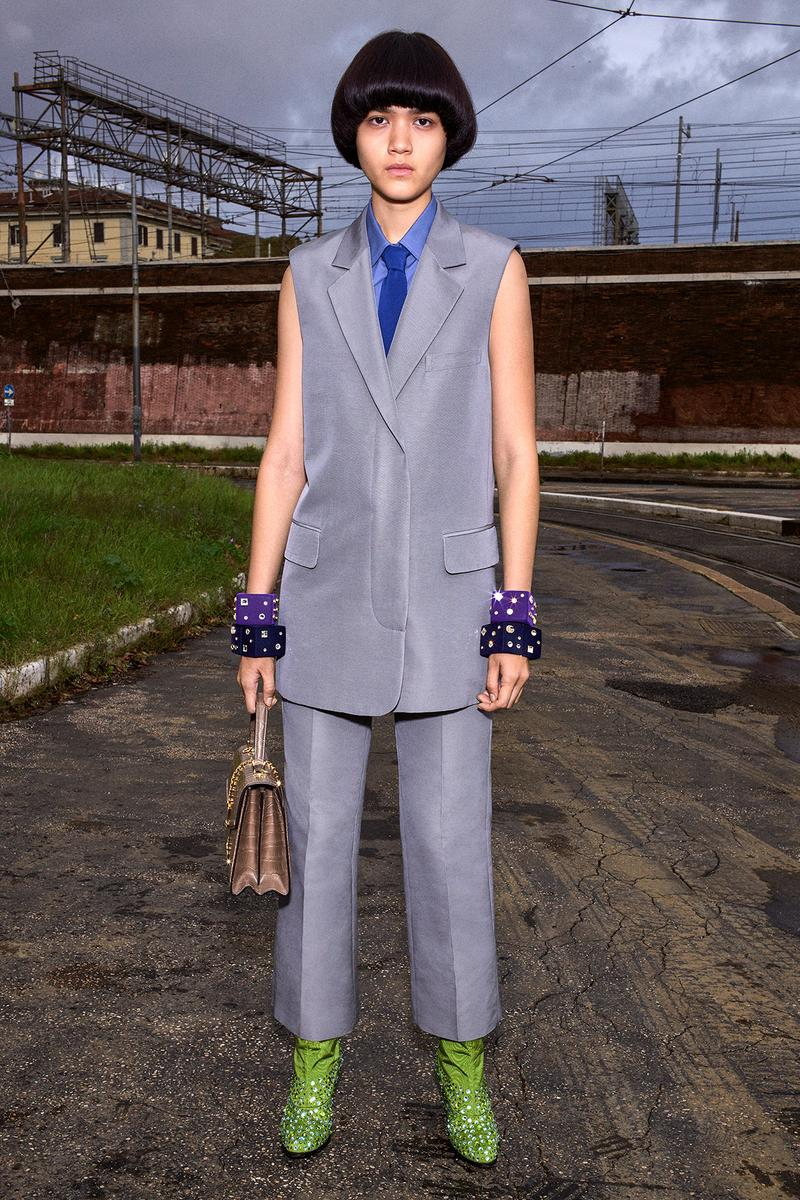 Gucci Pre-Fall 2020 Collection Lookbook Vest Suit Grey