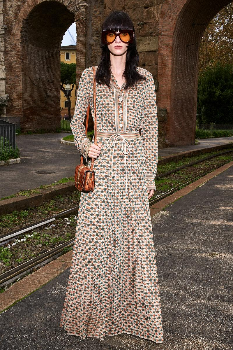 Gucci Pre-Fall 2020 Collection Lookbook Maxi Dress Brown