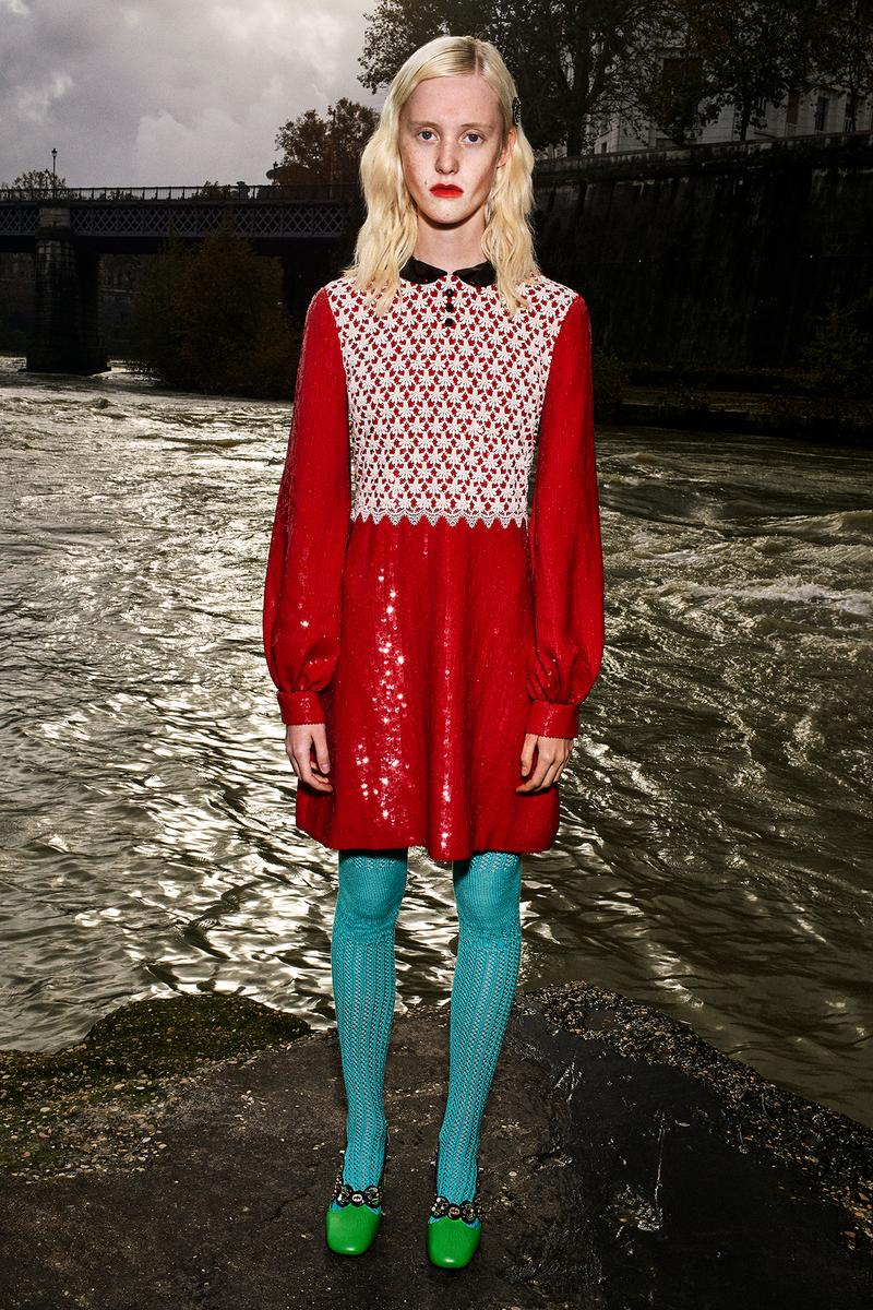 Gucci Pre-Fall 2020 Collection Lookbook Minidress Red Sequin