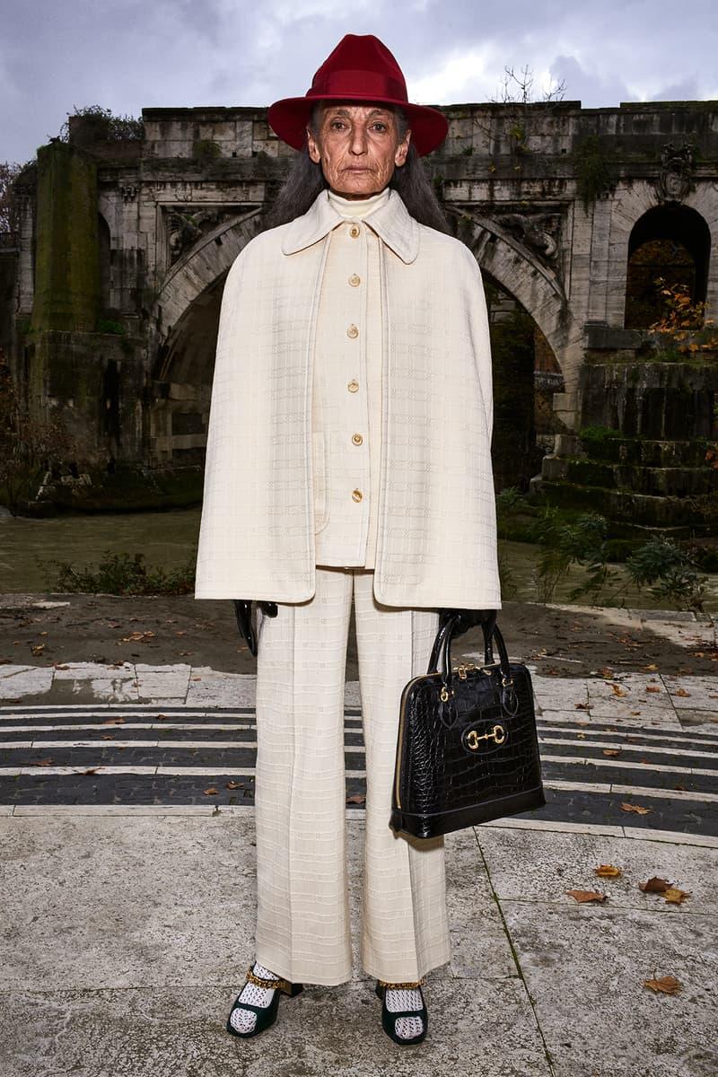 Gucci Pre-Fall 2020 Collection Lookbook Cape Suit Beige
