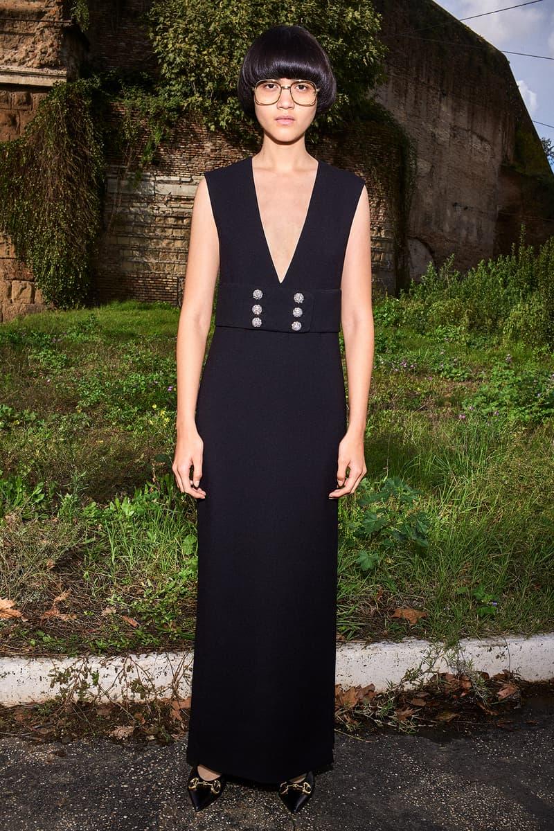 Gucci Pre-Fall 2020 Collection Lookbook Tailored Maxi Dress Black