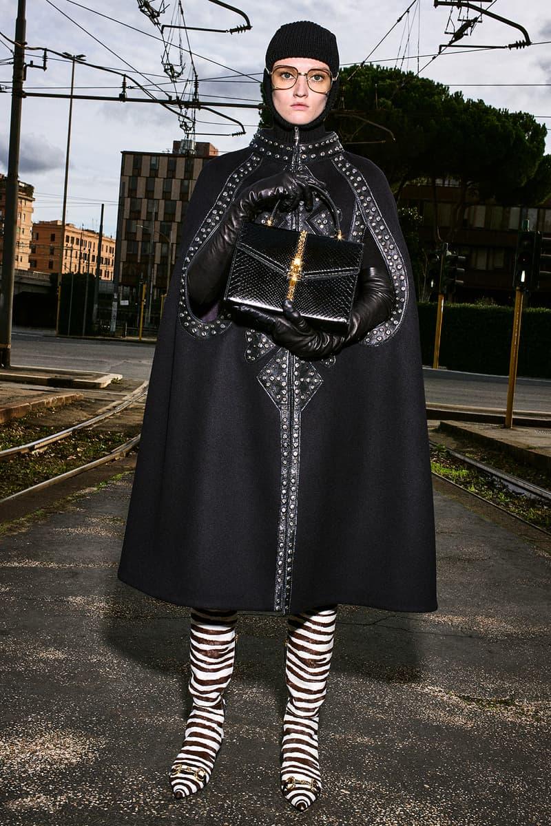 Gucci Pre-Fall 2020 Collection Lookbook Black Cape Zebra Boots