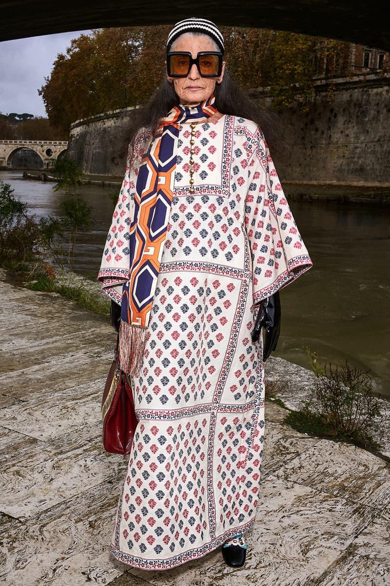 Gucci Pre-Fall 2020 Collection Lookbook Kaftan Floral Peasant