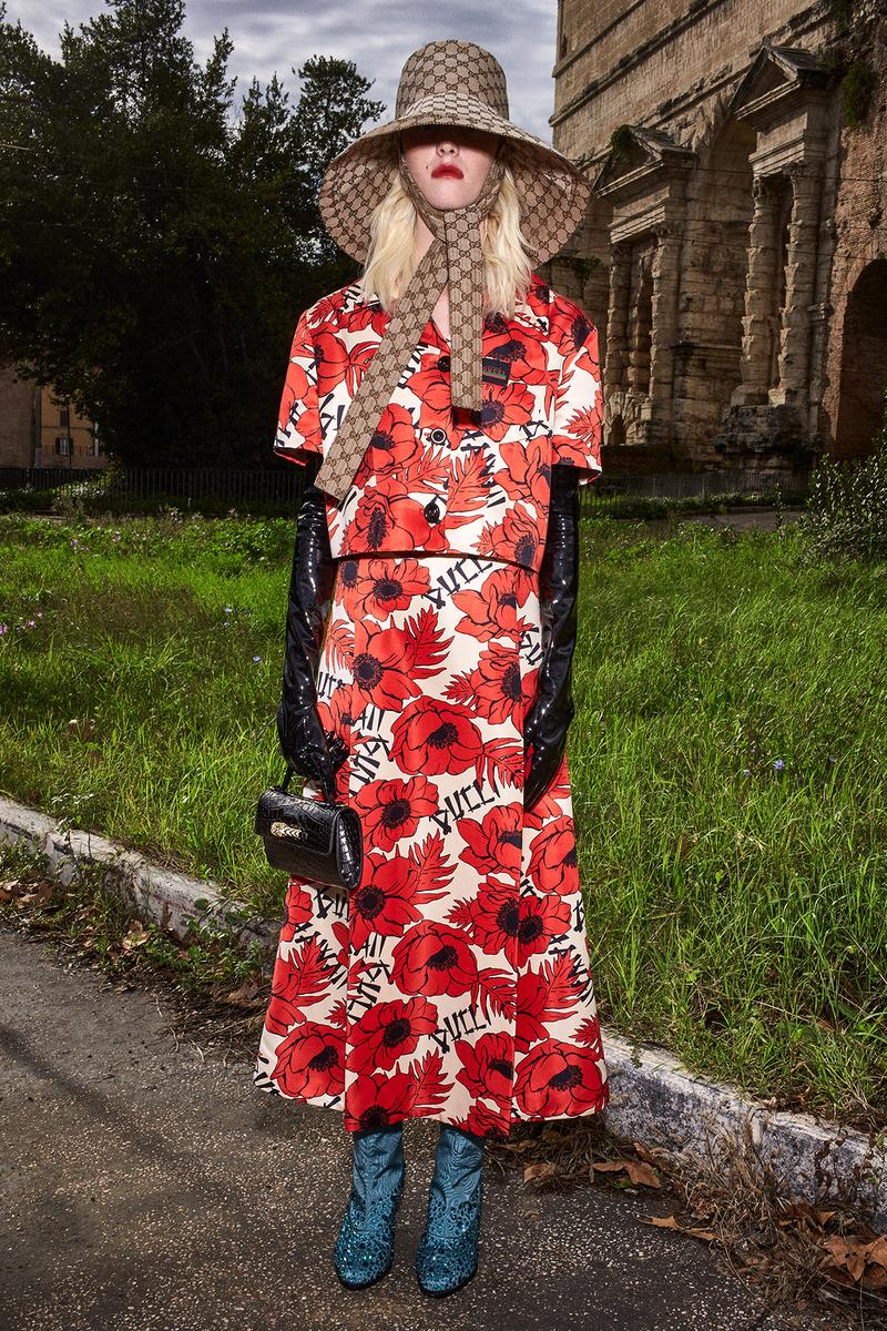 Gucci Pre-Fall 2020 Collection Lookbook Poppy Red Floral Dress