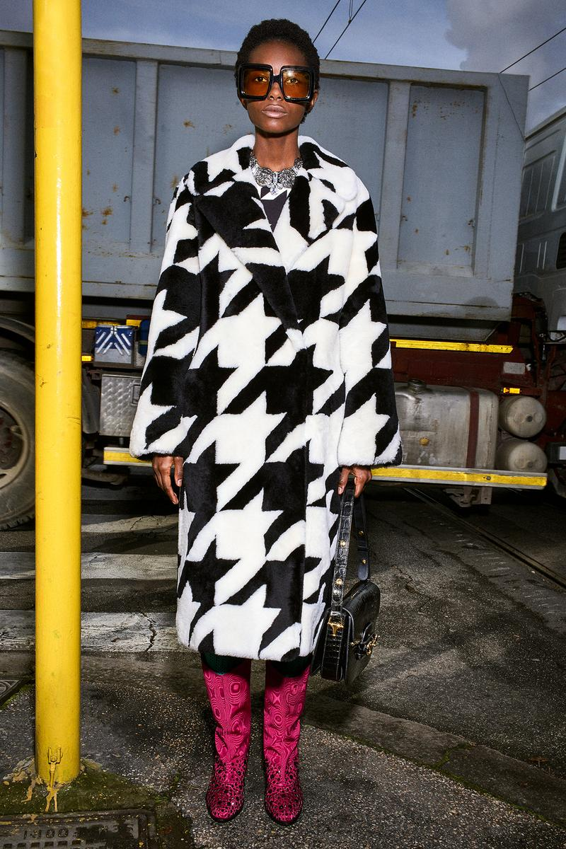 Gucci Pre-Fall 2020 Collection Lookbook Houndstooth Coat