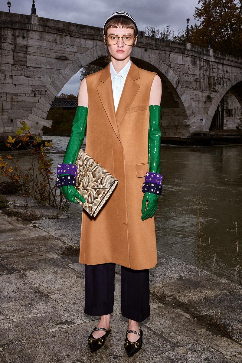 Gucci Pre-Fall 2020 Collection Lookbook Overcoat Beige