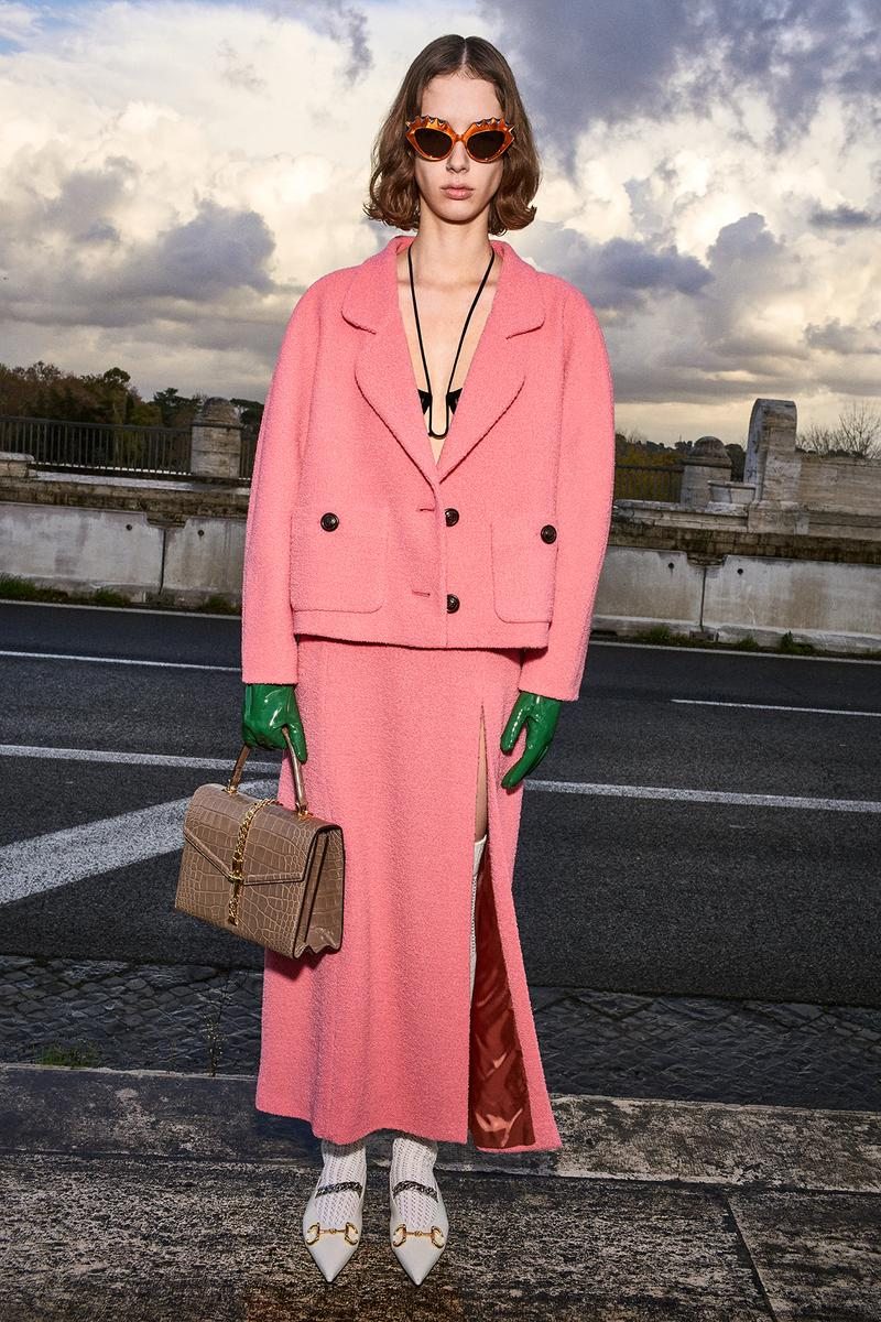 Gucci Pre-Fall 2020 Collection Lookbook Wool Suit Coral