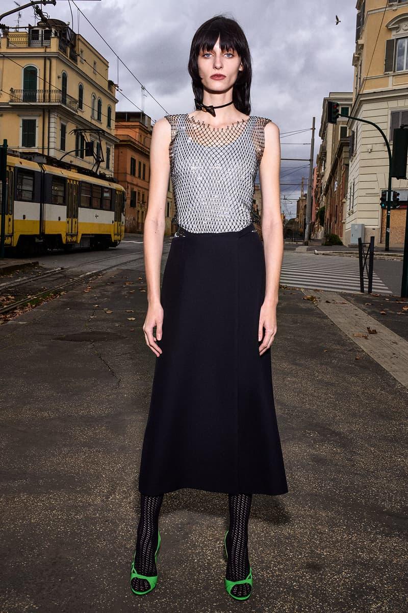 Gucci Pre-Fall 2020 Collection Lookbook Silver Mesh Dress Black