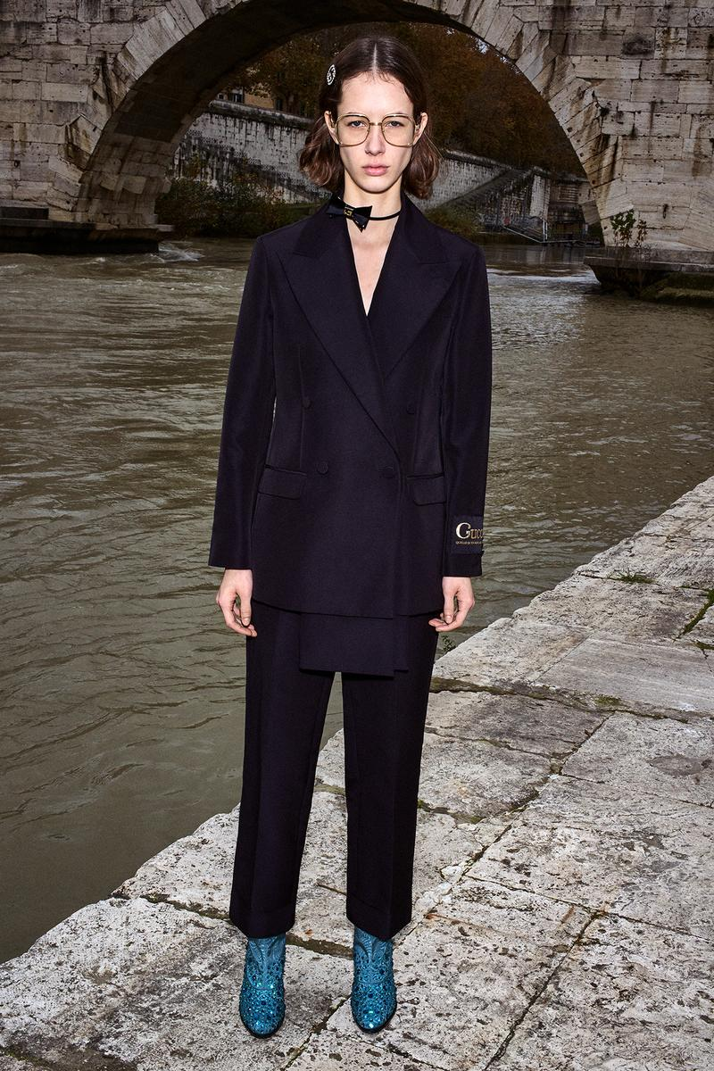 Gucci Pre-Fall 2020 Collection Lookbook Suit Black