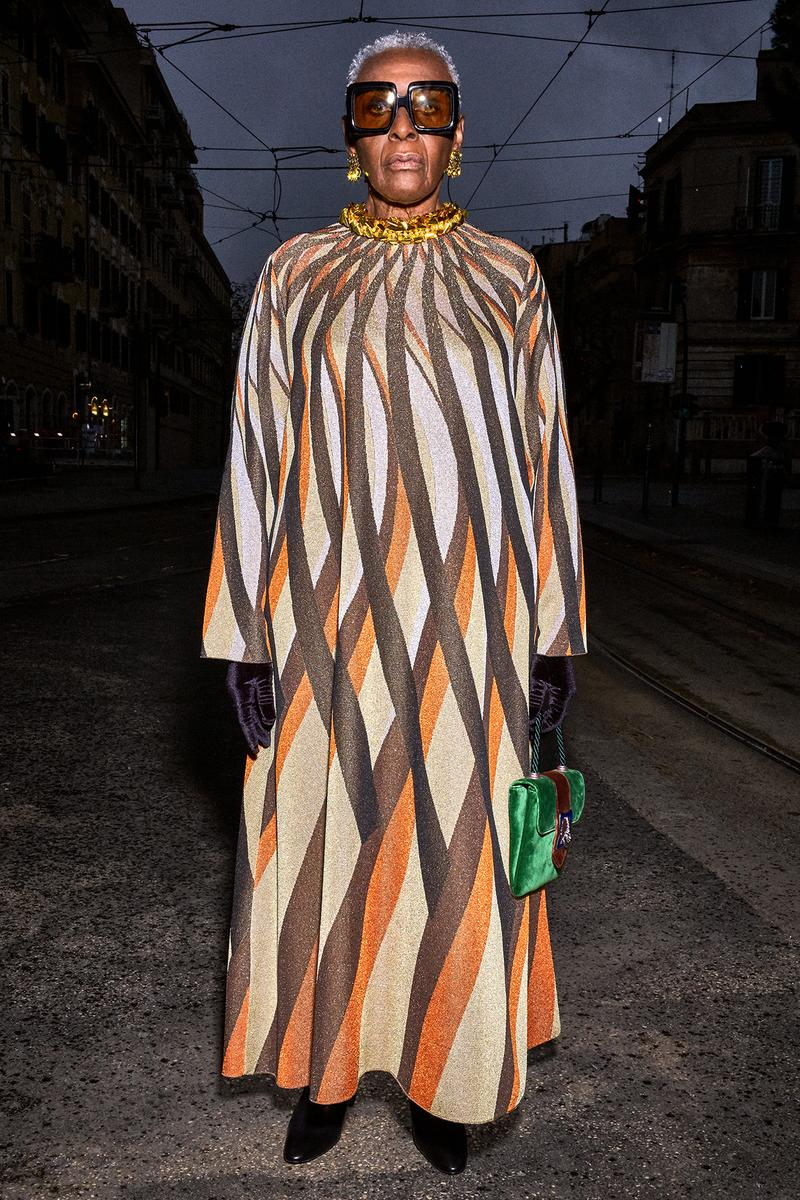 Gucci Pre-Fall 2020 Collection Lookbook Geometric Maxi Dress Sheath